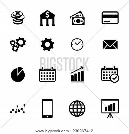 Business Icons, Set Of Simple Business And Finance Icons