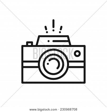Camera Line Icon. Photography Logo. Digital Camera
