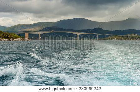 View On Fjord Near Alesund From Pleasure Motorboat, Norwegian Sea, Norway, Europe