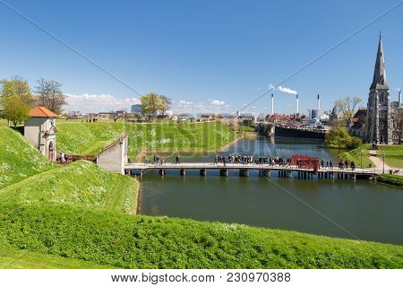 Copenhagen, Denmark - April 30, 2017: View From The Kastellet Fortress