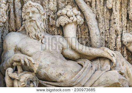 Quattro Fontane Sculpture, Rome, Italy