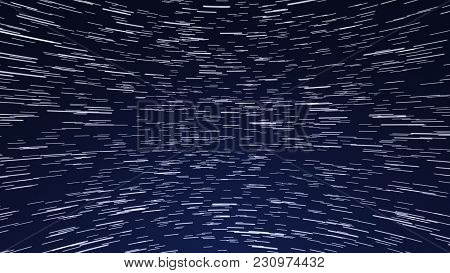 Star Trail Galaxy In Stunning Night