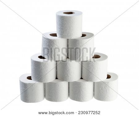 Stack of Toilet Papers Isolated