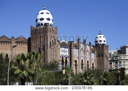 Barcelona, Spain - July 31, 2015: The Plaza Monumental De Barcelona Or Known As La Monumental. It Is