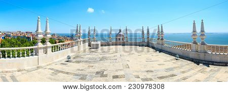Sea View And Cityscape From Roof Of  Monastery Of St. Vincent Outside The Walls, Or Church (iglesia)
