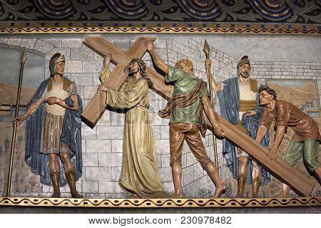 Barcelona-july 25:the Temple Expiatori Del Sagrat Cor On The Summit Of Mount Tibidabo On July 25, 20