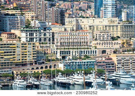 Monte Carlo District Of Monaco Is Vit For Apartments And Yachts.