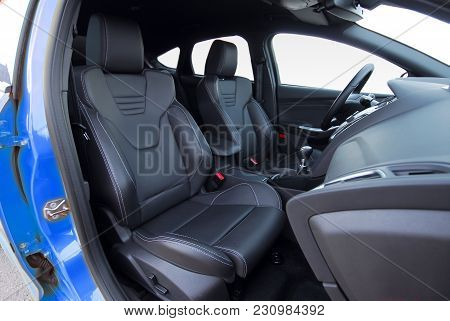 Front Seats Of A Modern Sports Car