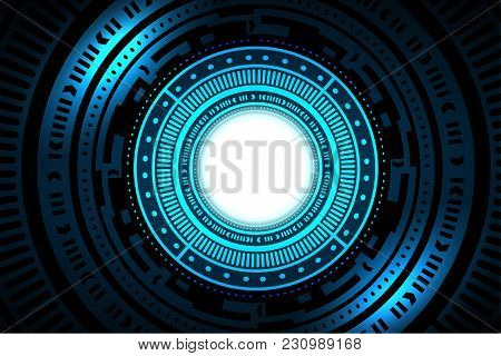 Technology Interface Hud Abstract Background Vector Design