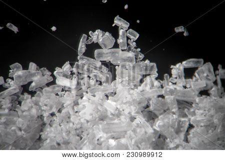 Creatine Crystals By Microscope Looks Like Methamphetamine. Athletic Dietary Supplement In Details S