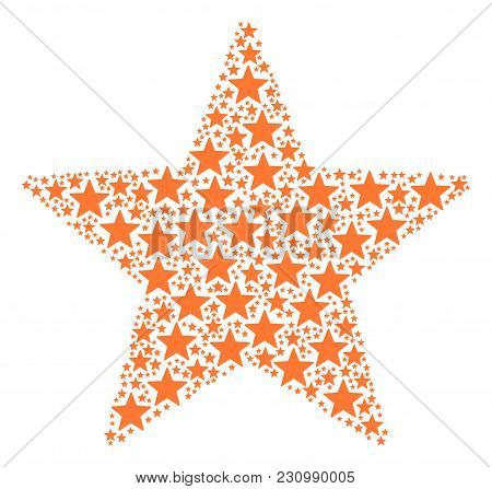 Fireworks Star Figure Made In The Collection Of Fireworks Star Elements. Vector Iconized Collage Com