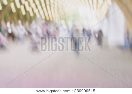 Abstract Blurred Unrecognizable People Silhouettes For Creative Background, Pantone Fashion Colors W