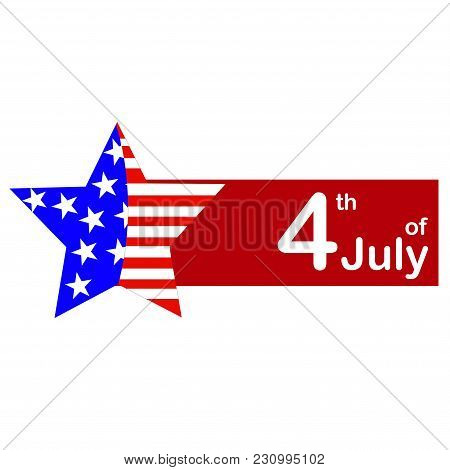 The Vector Illustration Made By An Independence Day. The Star Painted As A Flag.