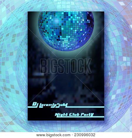 Mirror Ball Poster. Modern Background Design For Cover, Magazine, Printing Products, Party Flyer, Pr