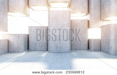 abstract modern structure texture concrete 3d rendering image