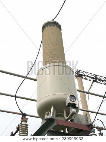 current transformer 110 kV Electrical high voltage substation poster