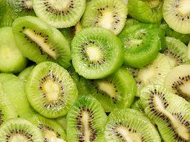 Fresh Kiwi Fruit, Close-up Green Color. Ioslated