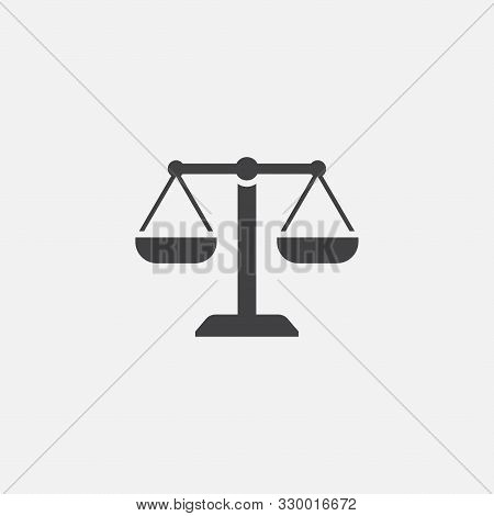 Law Firm Icon, Simple Law Icon Design, Justice Icon, Scales Of Justice Design Illustration