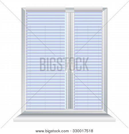 Window Jalousie Icon. Cartoon Of Window Jalousie Vector Icon For Web Design Isolated On White Backgr