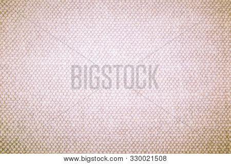 Cream Canvas Texture Background. Pastel Abstract Hessian Or Sackcloth Fabric Texture Background. Wal