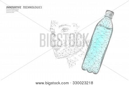 Water Aqua Bottle Skin Care Beauty Rehydration Concept. Health Care Against Dehydration Isotonic Ele