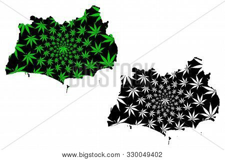Rayong Province (kingdom Of Thailand, Siam, Provinces Of Thailand) Map Is Designed Cannabis Leaf Gre
