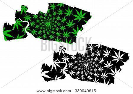 Samut Prakan Province (kingdom Of Thailand, Siam, Provinces Of Thailand) Map Is Designed Cannabis Le