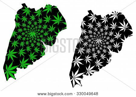 Samut Songkhram Province (kingdom Of Thailand, Siam, Provinces Of Thailand) Map Is Designed Cannabis