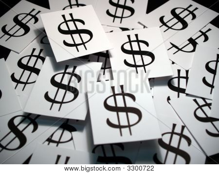 Dollar Sign On Cards
