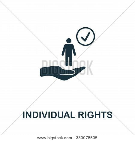 Individual Rights Vector Icon Symbol. Creative Sign From Gdpr Icons Collection. Filled Flat Individu