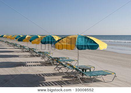 Lounges & Umbrellas On Daytona Beach