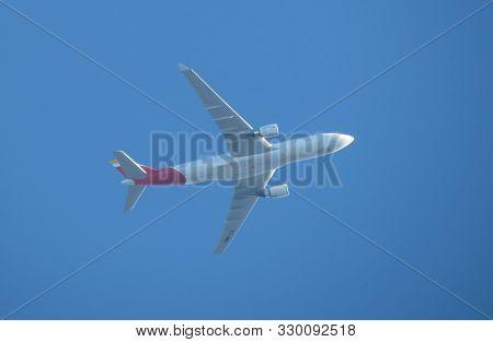 Madrid, Spain - Circa October 2017: Iberia Airbus A330