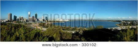 Panorama View Of Perth City
