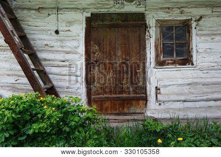 Traditional Outbuilding In Liptov Region In Slovakia.
