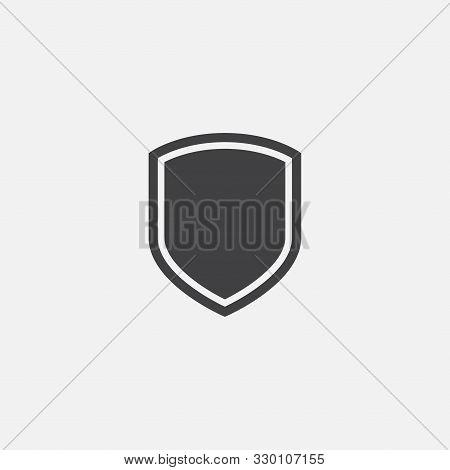Shield, Guard Icon Vector, Shield Linear Logo Illustration, Shield Line Icon In Trendy Style, Shield