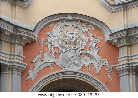The Rococo Portal Of The Entrance To Vilnius Holy Spirit Church And Dominican Monastery Ensemble Wit