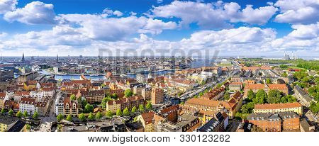 poster of panoramic view at the city center of copenhagen, denmark