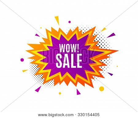 Wow Sale. Banner Badge, Offer Sticker. Special Offer Price Sign. Advertising Discounts Symbol. Wow S