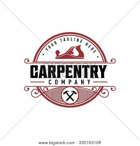 Vintage Logo For Wood Working.carpentry Logo Design Template