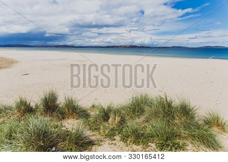 Pristine Australian Coastline And Beach Landscape In Tasmania