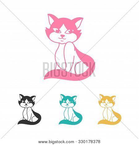 Sitting Cat Icon . Cat Vector. Simple App Cat. Sitting Cat Drawing. Sitting Cat Cartoon. Sitting Cat