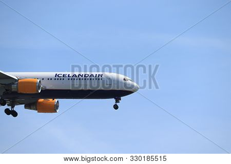 Amsterdam, The Netherlands - June, 1st 2019: Tf-isp Icelandair Boeing 767-300 Final Approaching To P