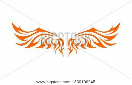 Wing Logo Company, Icon Wing Flying, Eagle Wing Brand And Logotype Wing Bird Illustration, Set Of Wi