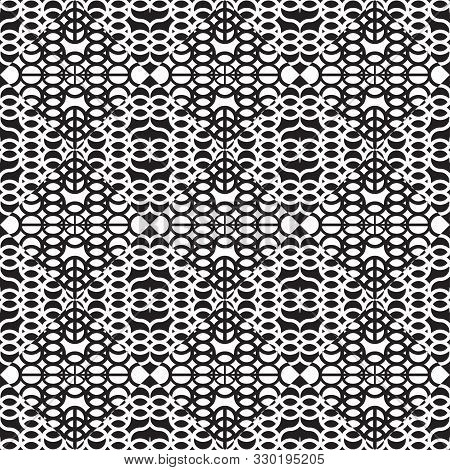 Seamless Vector Psychodelic Lacy Pattern. East Style. A Magnificent Ornament With The Alternating Rh