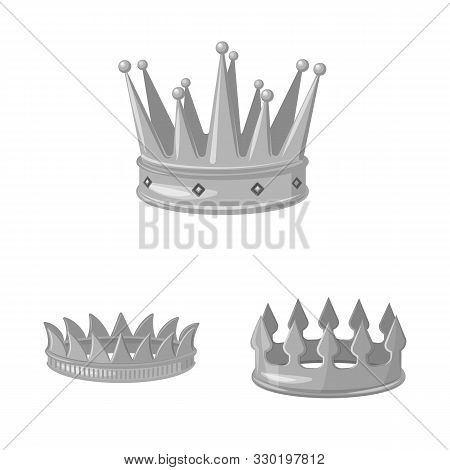 Vector Design Of Jewel And Vip Sign. Collection Of Jewel And Nobility Stock Vector Illustration.