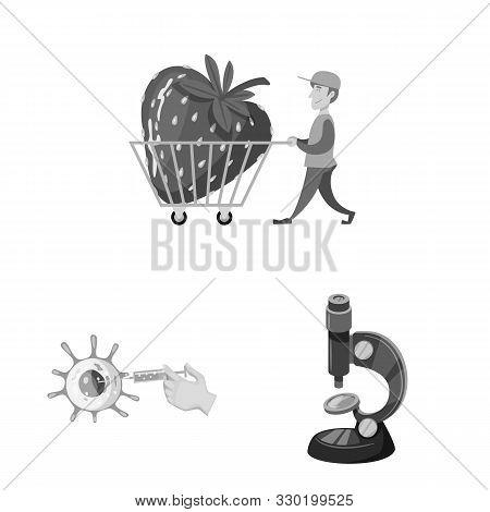 Vector Design Of Transgenic And Organic Logo. Set Of Transgenic And Synthetic Vector Icon For Stock.