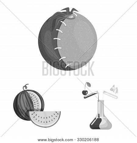 Vector Illustration Of Transgenic And Organic Icon. Collection Of Transgenic And Synthetic Stock Sym