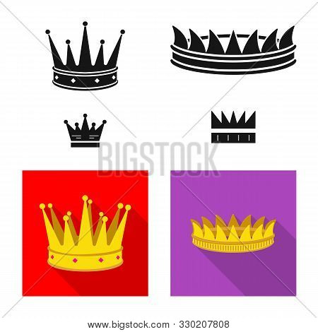 Isolated Object Of Medieval And Nobility Symbol. Collection Of Medieval And Monarchy Stock Symbol Fo