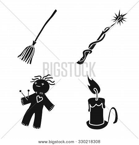 Isolated Object Of Witchcraft And Magic Sign. Collection Of Witchcraft And Halloween Vector Icon For