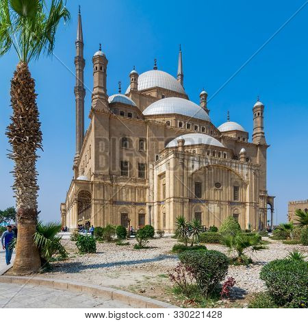 Cairo, Egypt- March 4 2017: The Great Mosque Of Muhammad Ali Pasha - Alabaster Mosque - Situated In